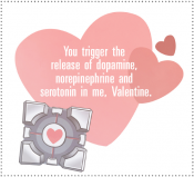 Companion Cube Valentine from Valve's official Portal 2 blog.
