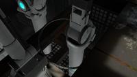 Hoopy dans un des Repaires de l'homme-rat dans Portal 2