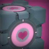 Companion Cube icon from the official Steam Portal 2 group.