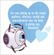 Wheatley Valentine from Valve's official Portal 2 blog.