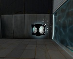 A vaporized Discouragement Redirection Cube in Portal 2
