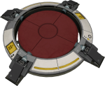 An active Portal 2 floor button